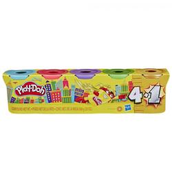 Pâte à modeler - 4 pots + 1 or ou argent de Play-Doh