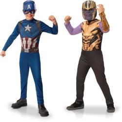 Avengers - Panoplies Thanos et Captain America 7-8 ans