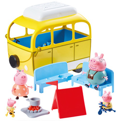 Peppa Pig-Camping Car tente et 4 personnages