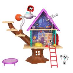 La cabane dans l'arbre et figurines Dolly et Dylan - Disney Les 101 Dalmatiens