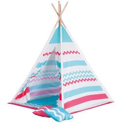 Tipi nature colours avec 2 coussins et tapis de sol