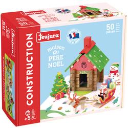 Jeu de construction en bois la maison du Père Noël 50 pièces