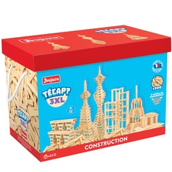 Tecap XL - Baril de 500 planchettes en bois