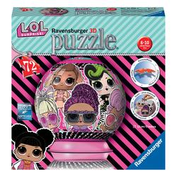 Puzzle 3D rond LOL Surprise 72 pièces