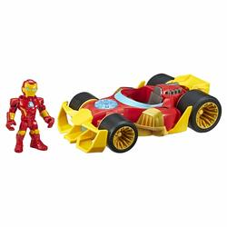 Figurine Black Panther ou Iron Man avec son bolide - Marvel Super Hero Adventures