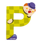 Lettre clown P