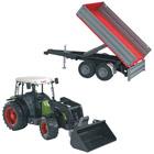 Tracteur Claas Nectis + remorque