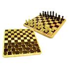 Jeu échecs et de dames avec plateau bois