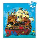 Puzzle silhouette bateau 54 pièces