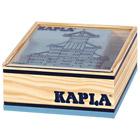 Kapla-40 planchettes bois bleu ciel