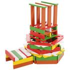 100 planchettes de bois multicolores