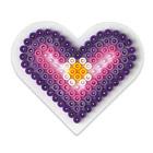 Plaque pour perles à repasser petit coeur