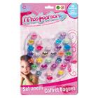 30 Bagues multicolores