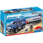 5187 - Playmobil City Action - Fourgon et vedette de police