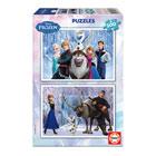 2 puzzles de 100 pièces La Reine des Neiges