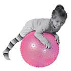 Ballon de motricité rose