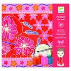 Peinture sur soie foulard japonais