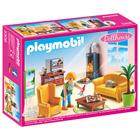 5308 - Salon avec poêle à bois - Playmobil Dollhouse
