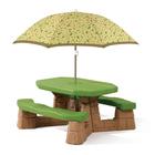 Table Picnic avec parasol marron