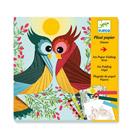 Coffret papier plissé oiseaux