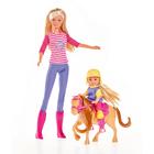 Poupée Lolly avec Lolly kid avec son poney