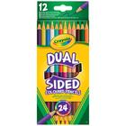 12 crayons de couleur double pointes
