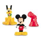 Figurine Mickey et Pluto avec télescope