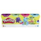 Pâte à modeler 4 pots couleur Bold de Play-Doh