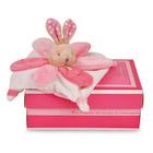 Mini doudou collector lapin rose