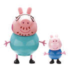 Peppa Blister 2 Figurines Papa Pig et George