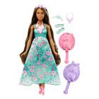 Barbie chevelure 3 en 1 bleue brune