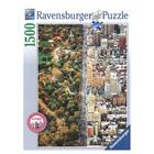 Puzzle 1500 pièces Le vert et la ville