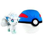 Pokémon-Peluche Zip Goupix d'Alola
