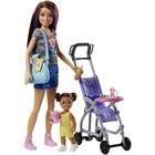 Barbie-Coffret Babysitter Skipper poussette