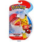 Pokémon-Lanceur Pokéball et peluche Pikachu