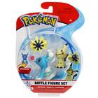 Pokemon-Pack 3 figurines Brionne Mimikyu et Cosmoem