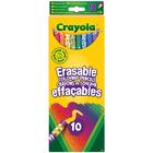Crayola-10 crayons de couleur effaçables