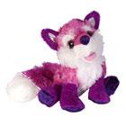 Peluche renard violet 30 cm