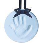 Souvenir empreinte de bébé bleu