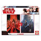 2 puzzles de 500 pièces Star Wars épisode VIII