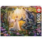 Puzzle dragon princesse et licorne 1500 pièces