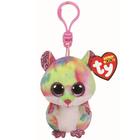 Beanie Boo's-Porte-clés Rodney le hamster multicolore