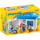 9382 - Playmobil 1.2.3 commissariat de police transportable