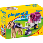 9390 - Playmobil 1.2.3 Carriole avec cheval