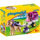 9390 - Playmobil 1.2.3 Carriole avec cheval