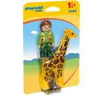 9380 - Playmobil 1.2.3 Soigneur avec girafe