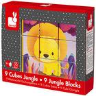 9 cubes animaux de la jungle