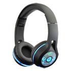 Casque Bluetooth LED MP3 noir