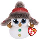 Beanie Boo's - Peluche Medium Buttons bonhomme neige 23cm