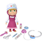 Masha & michka - poupée souple masha et son set de docteur + accessoires